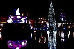 Purple fountain.